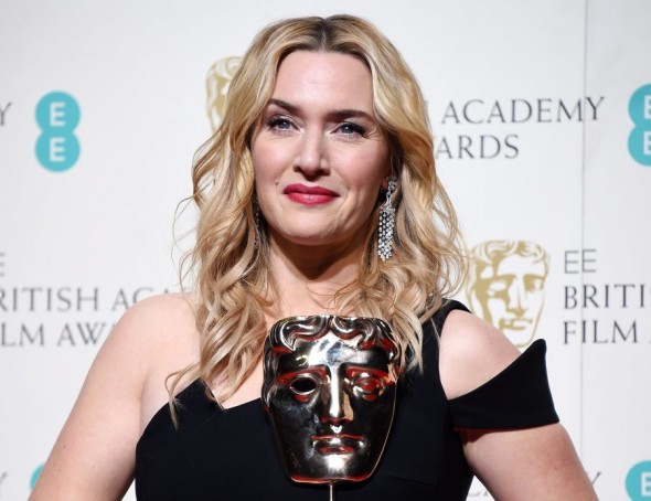 epa05161389 Kate Winslet poses in the press room after winning for the Best Supporting Actress award for 'Steve Jobs' during the 69th annual British Academy Film Awards at the Royal Opera House in London, Britain, 14 February 2016. The ceremony is hosted by the British Academy of Film and Television Arts (BAFTA). *** Local Caption *** 51788314  EPA/ANDY RAIN *** Local Caption *** 51788314